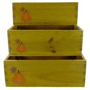 Boyds Bears Plush PUNKINBEARY CRATES Wood Fall Autumn 654920