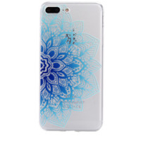 Gradient color blue flower Phone Case Cover for Apple iPhone 7 7 Plus 5S 5 SE 6 6S 6 Plus 6S Plus + Nice gift box! LJ161005-005
