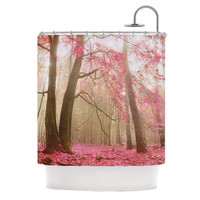 "Iris Lehnhardt ""Atmospheric Autumn"" Pink Shower Curtain"