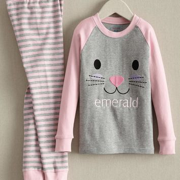 Personalized Hoppy Bunny Pj's for Kids | Chasing Fireflies