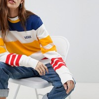 Vans Exclusive Sweatshirt In Multi Color Stripe at asos.com