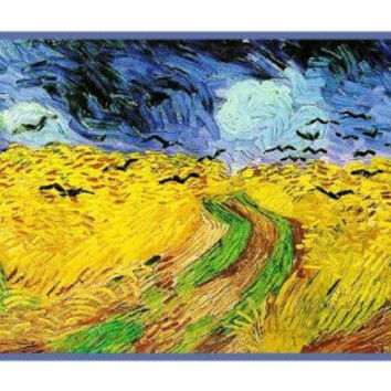 Wheat Field with Crows inspired by Impressionist Vincent Van Gogh's Painting Counted Cross Stitch or Counted Needlepoint Pattern