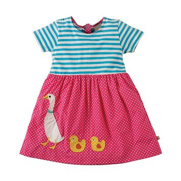 Baby Girls Summer Dress Animal Pattern Kids Party Dresses Children Clothing Princess Unicorn Costume for Girls Clothes