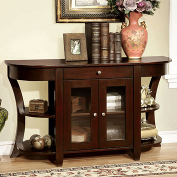 Furniture of america CM-AC141 Newell dark cherry finish wood hall console entry table
