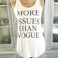 MORE ISSUES TANK IN WHITE