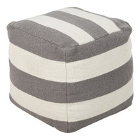 Harbor Blvd. Pouf IVORY/GRAY