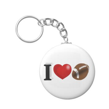 I Love Football 3D Key Chains