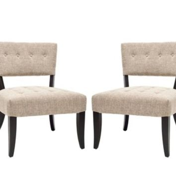 Safavieh Madeline Tufted Living Room Chairs (Set of 2)