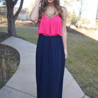 Forever Yours Maxi Dress - Hot Pink