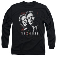 X Files Mulder & Scully Black Long-Sleeve T-Shirt
