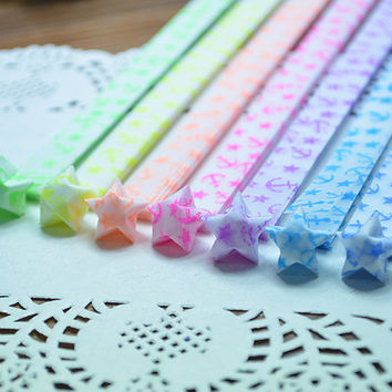 Anchor Glow in the Dark Folding Origami Star Paper / Paper Lucky Star Assorted / Favour Strips 2 Colors Mixed 60 Stripes