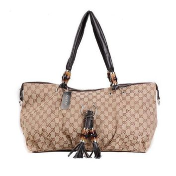 GUCCI Women Leather Fashion Shoulder Bag Tote Handbag Shopping Bag