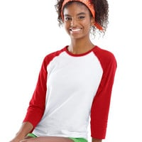 Red 3/4 Sleeve Baseball Tee , Merry Christmas Y'all, SMALL, Christmas Shirt