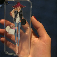 Transparent Clear Soft Silicon Girl Cases For iPhone 6 6s