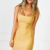 Butterfly Effect Mini Dress - Gold