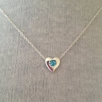Boho Yoga Jewelry Aquamarine Crystal Heart Necklace UK