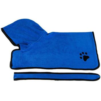 Soft  Absorbent Pet Bathrobe - Drying Towel Embroidery