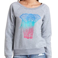 OMBRE ELEPHANT GRAPHIC SWEATSHIRT