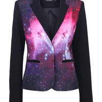 Starry Night Print Blazer [NCSUSD0005] - $79.99 :
