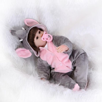 42CM silicone reborn doll Bonecas Baby Reborn realistic magnetic pacifier bebe bjd doll reborn for girl Gift