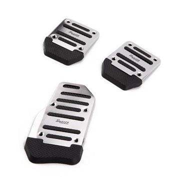 3 Piece Non Slip Pedal Kit Clutch Brake Cover Pads for Manual Transmission