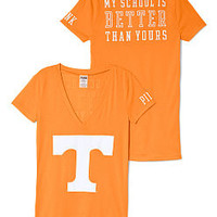 University Of Tennessee Mascot V-neck Tee - PINK - Victoria's Secret