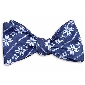 Fair Isle Bow Tie in Navy by High Cotton