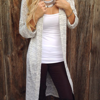Marled Long Knit Cardigan - FINAL SALE