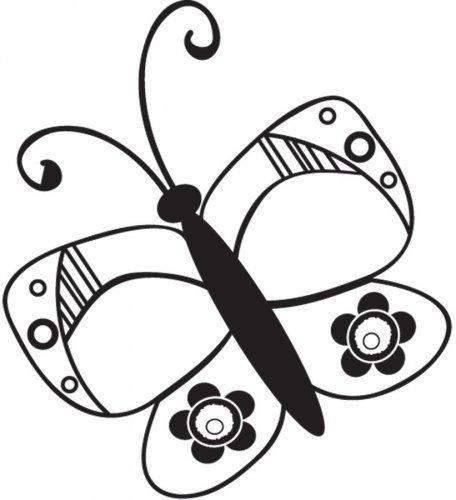 Clear stamp for scrapbooking - BUTTERFLY by Daisy Bucket