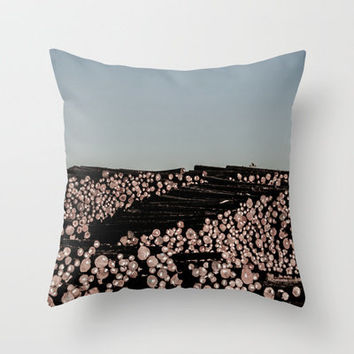 Stacked Throw Pillow by Upperleft Studios