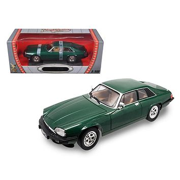 1975 Jaguar XJS Coupe Green 1/18 Diecast Car Model by Road Signature