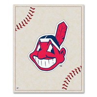 Cleveland Indians Baseball Stitches Canvas Wall Art