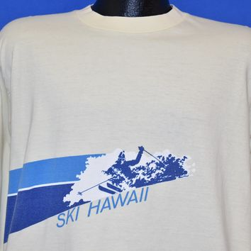 70s Ski Hawaii Long Sleeve Tourist t-shirt Large