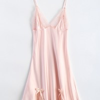 Bowknot Lace Panel Babydoll