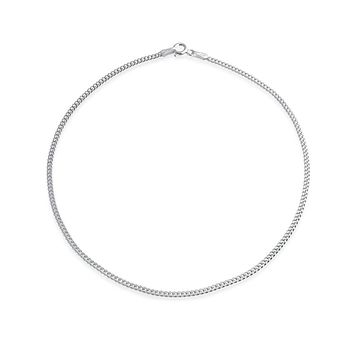 Simple Strong 925 Sterling Silver Cuban Curb Chain Anklet Bracelet