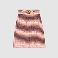 Gucci Striped tweed skirt