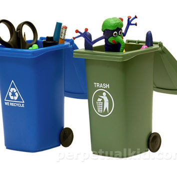 TRASH  RECYCLING MINI STORAGE BINS SET