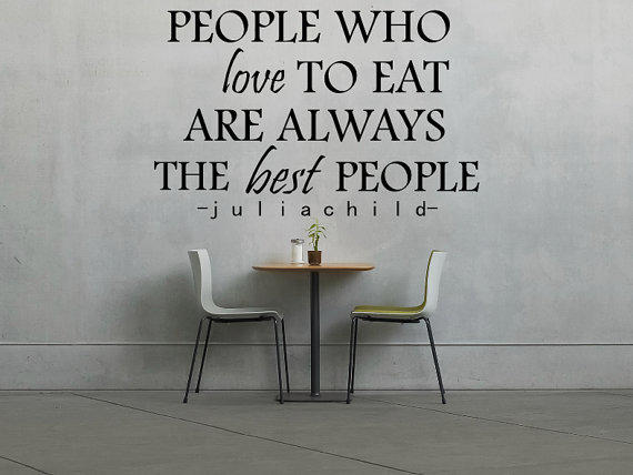 & Julia Child Decal - People Who Love To from PulpKitchenGraffiti