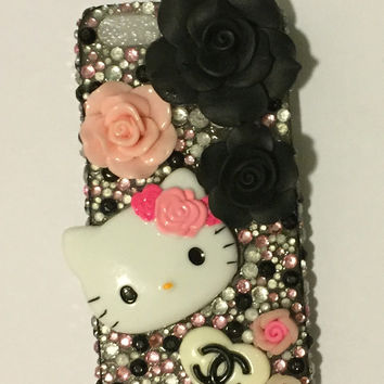 cute kawaii Iphone 5 hello kitty rhinestone cell phone case