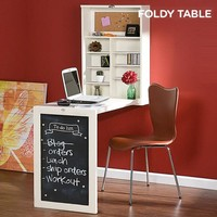 Foldy Table W Foldable Wall Desk