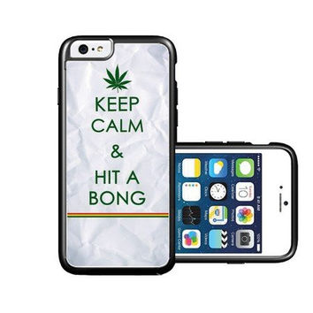 RCGrafix Brand Keep Calm Hit A Bong iPhone 6 Case - Fits NEW Apple iPhone 6