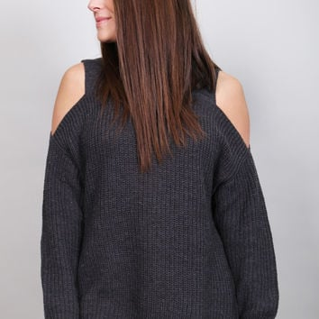 The Laci Cold Shoulder Sweater