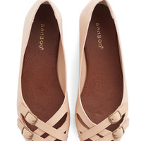 ModCloth Prancing in the Moonlight Flat in Beige