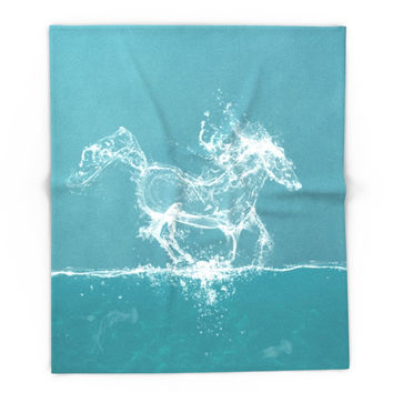 Society6 The Water Horse Blanket