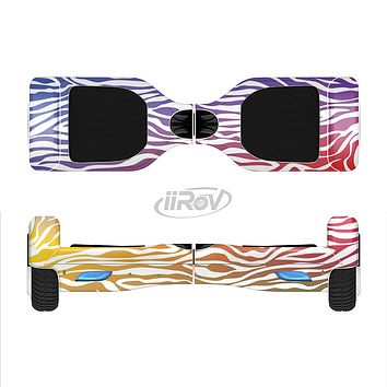 The Colorful Vector Zebra Animal Print Full-Body Skin Set for the Smart Drifting SuperCharged iiRov HoverBoard