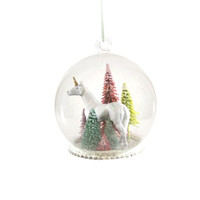 Unicorn Forest Globe Ornament