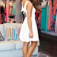 Bow Tie Affair Dress - White