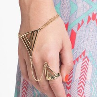 South Sun Triangle Hand Chain | Nordstrom