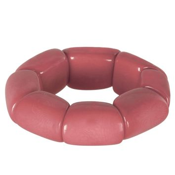 Riverbed Tagua Nut Bracelet in Pink - Faire Collection