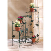 Ivy Design Staircase Iron 6-Shelf Plant Stand